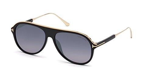 Sonnenbrillen Tom Ford NICHOLAI-02 FT 0624 Gleaming BLACK/SMOKE SHADED Herrenbrillen