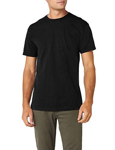 Fruit of the Loom Herren Premium Tee Single T-Shirt, schwarz, L -