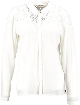 Garcia bluse mit spitze feder weiß