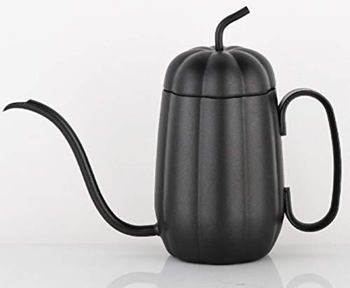 Cvthfyk Pote de café Lavado a Mano en Forma de Calabaza 304 Teflon de Acero Inoxidable Pote de la Boca...