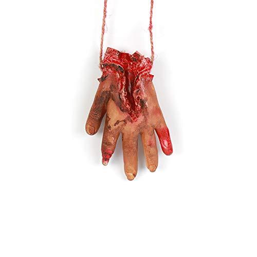 (Deanyi Blutige Gefälschte Abgebrochene Hand mit Seil Streich Trick Halloween Party Requisiten 1 Stk)