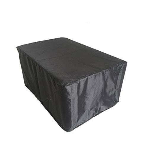 LH-Tarps Gartenmöbelbezüge Cube Patio Set Regenschutz Staubdicht Anti-Aging (Farbe : SCHWARZ, größe : 242x162x100cm)