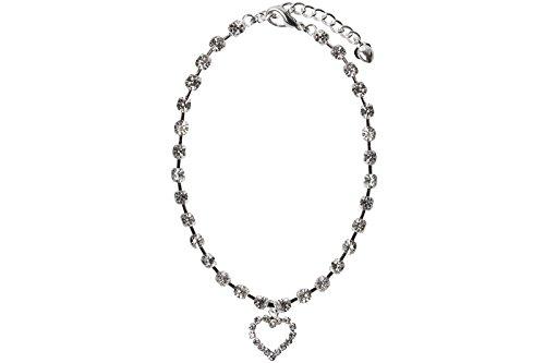 Hunde Halskette Schmuck Strass Halsband Neuheit Cute Cat Bone Anhänger Herz - 2