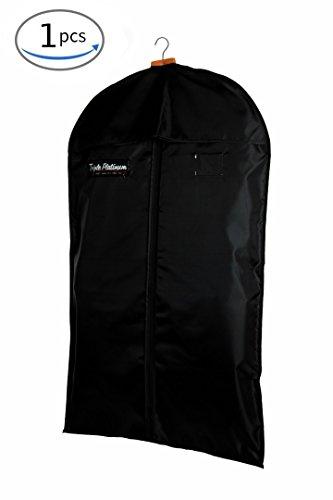 Kleidersack / Kleiderhülle / Anzugsack / Anzughülle Premium Pro aus atmungsaktivem umweltfreundlichem Stabiler Material - 100 x 60 cm - Erstklassiger, Allround Schutz für Ihre Anzüge und Kleider