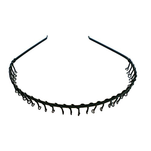Fashion-NEW-Black-Metal-Spear-Headband-Sports-Football-MENS-UNISEX