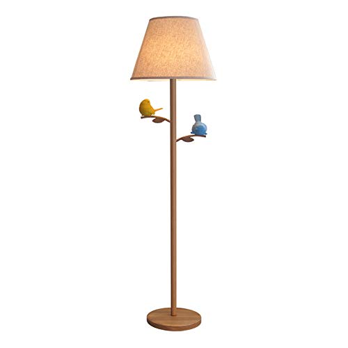 ZPCLucky Stehlampe, Stoff Vertikale Lampe Vogel Licht, Wohnzimmer Kinder Schlafzimmer Studie Nachttischlampe - Licht Arc Stehlampe