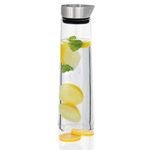 Eistee-Pitcher Kühle Wasserflasche Hohe Temperatur Glas Kalte Wasserflasche Große Kapazität Haushaltswasser Tasse Kaffee, Tee & Espresso (Color : Clear, Size : 8.5 * 8.5 * 30cm) (Flaschenverschlüsse Milch Glas)