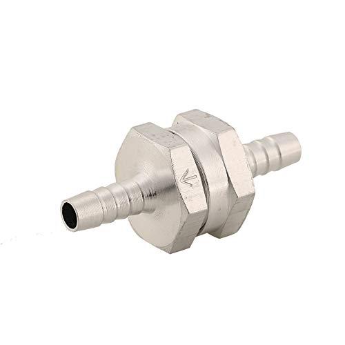 1Pc Clapet anti-retour en aluminium 6mm Carburant Non-Retour Inline Clapet anti-retour Tuyau à Vide One Way Pour Carburateur de Véhicule Automobile - Argent