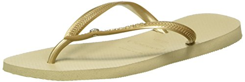 Havaianas Women's Slim Crystal Glamour Special Collection Flip Flops
