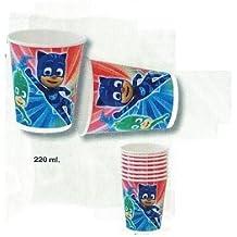 ALMACENESADAN Pj masks, 0361, Pack de 6 platos de plástico reutilizables para fiestas y