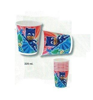 stor pj masks, 0361, 6 Stück wieder verwendbarer Kunststoff-Gläser für Feste und Geburtstage
