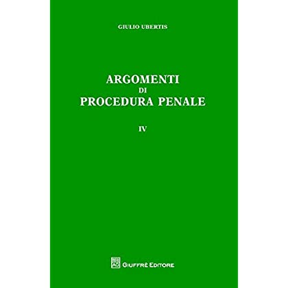 Argomenti Di Procedura Penale: 4