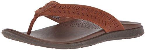 Chaco Herren Jackson Flip Flops, 44 M EU, Rust (Chaco Flip Flops Männer)