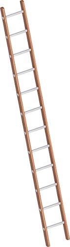 Layher 1029012 Verbundanlegeleiter 12 Sprossen, Holz-Aluminium-Anlegeleiter, Länge 3.50 m