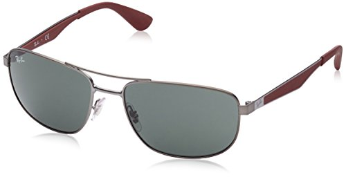 Ray-Ban UV protected Square Men's Sunglasses - (0RB3528190/7158|58|Dark Green) image