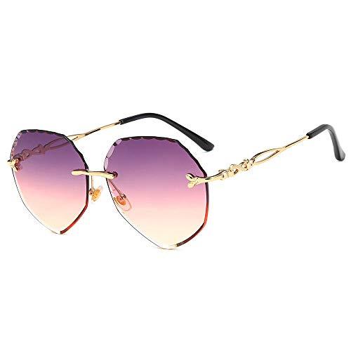 PROMISE-YZ Sonnenbrille Polarisierte sonnenbrille 100% UV 400-Schutz Mode Trend Strand Sonnenbrille Reisen fahren Damen Farbe randlose Brille