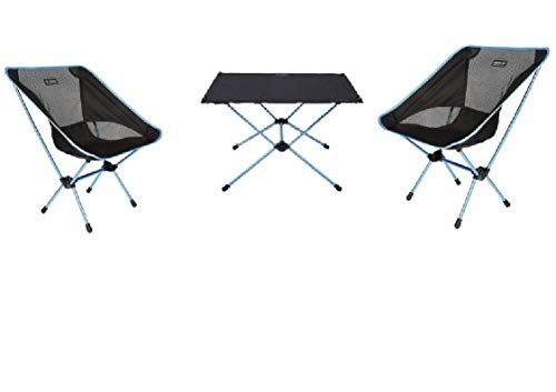 MOVERA Confort Kit de Camping – Seulement 3,4 kg – 2 chaises Chair One + Table One Hard Top L – Helinox – Entraînement par Holly Produits Stabielo