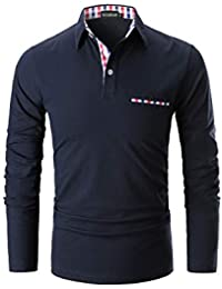 YCUEUST Herren Kurzarm Poloshirt Polohemd Polo Shirts mit Kariert Polokragen