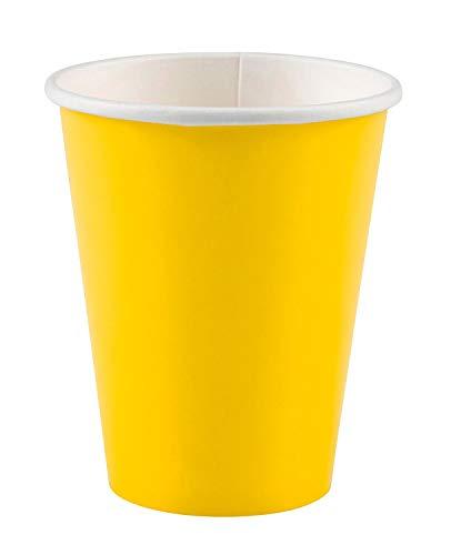 Amscan 266 ml Papiertassen Sunshine Gelb, 8 Stück