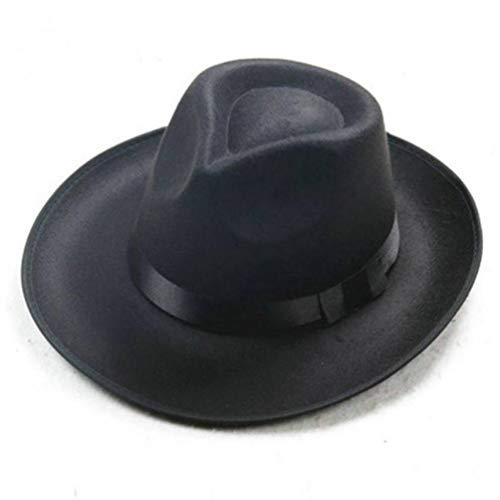 Donad Männer Frauen Vintage Fedoras breiter Krempe Band Jazz Hut warme Wolle Bowler Cap -