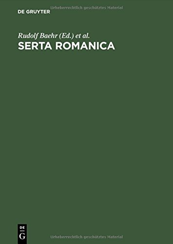 serta-romanica-festschrift-fur-gerhard-rohlfs-zum-75-geburtstag