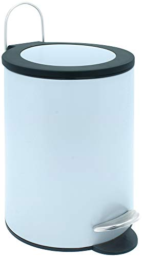 Sanwood 1008821 Treteimer FELINE hellblau mit flachem Deckel, Bad-Abfalleimer 3 Liter, Abfalleimer...