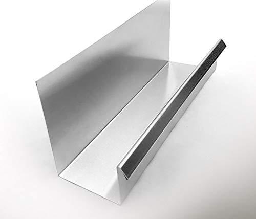 U-Kastenrinne 34 in Aluminium oder Titanzink (34-2 Aluminium 2m)