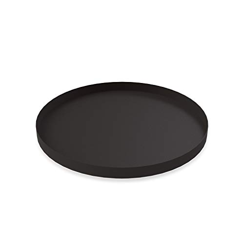 Cooee Design Tray Tablett, Edelstahl, Schwarz, 40 cm Design Tray