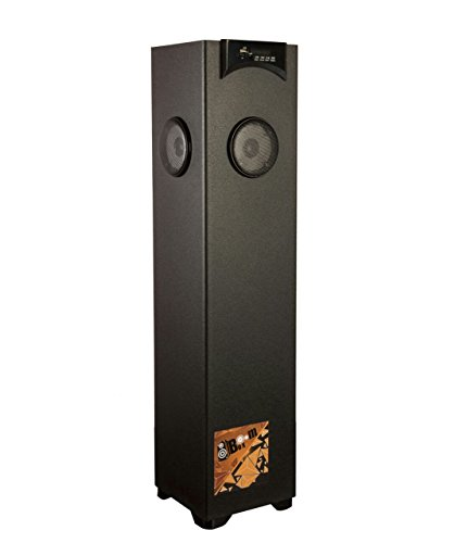 Flow Boom Box Floor Standing Tower Speaker with 5.25inch Woofer 2.5Feet Height (Black)