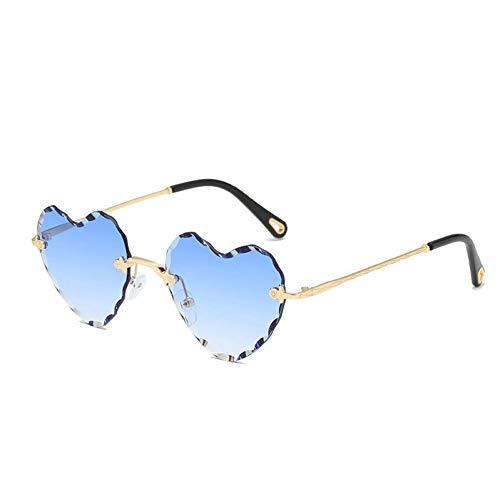 Yuanz Pfirsich Herz Sonnenbrille Mode Marine weibliche Liebe Herz Sonnenbrille Uv400,C2 -