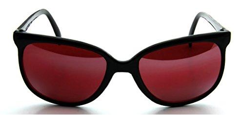 In Touch With Style Square Sport Wayfarer Sonnenbrille, Kunststoffrahmen, Rot, (schwarz), Medium