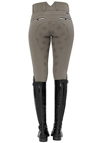 SPOOKS Reithose für Damen Mädchen Kinder, Voll-Besatz Reithosen Leggings Turnierreithose - bequem & stylisch Ricarda Full Grip High Waist - Stone M