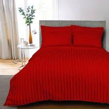 100% ägyptische Baumwolle 3-Teilig Spannbetttuch burgund roten Streifen–Bettwäsche-Set enthält 1Spannbetttuch und 2Kissenbezüge in Burgund Rot, King Kong–in Großbritannien King size-20cm Tiefe (Ägyptische Baumwolle Streifen-spannbetttuch)
