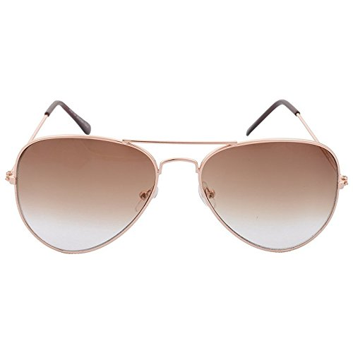 XLNC Unisex Brown Gradient Aviator Sunglasses (GFBWNGR01-1)