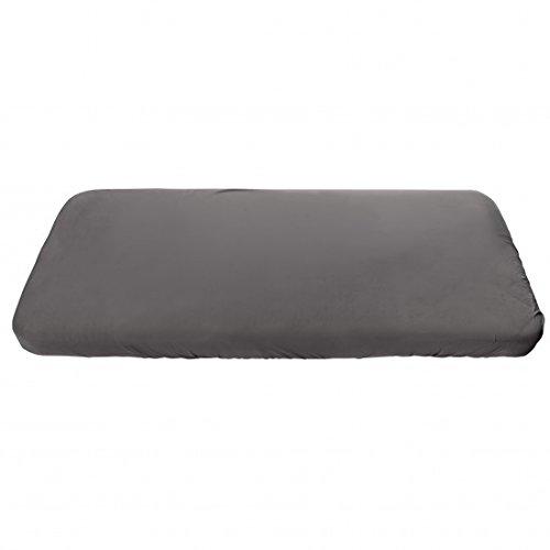 Sebra Jersey-Spannbettlaken aus Baumwolle für Kinderbett (70x160) in grau