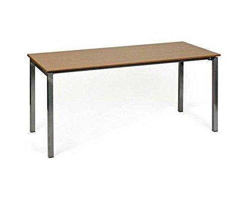 Konferenztisch Schreibtisch YORK I 160cm grau/walnuss hjh OFFICE