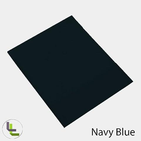 Scala 1PCs Hoja Plana(Azul Marino Sólido , Reino Unido Super King Size (6 ft x 6ft 6in)) 100% de algodón egipcio Alta Calidad 300 Thread