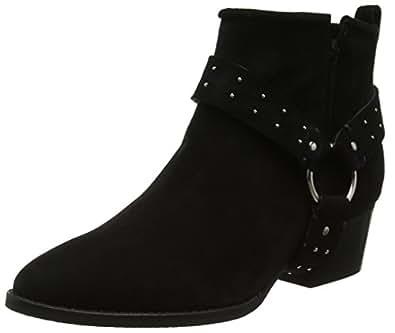 Shoe Biz Fen, Bottes Femme, Noir (Suede Black Lycra Black), 41 EU