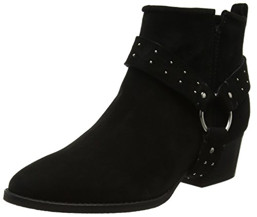 Shoe Biz Damen Fen Stiefel, Schwarz (Suede Black Lycra Black), 40 EU