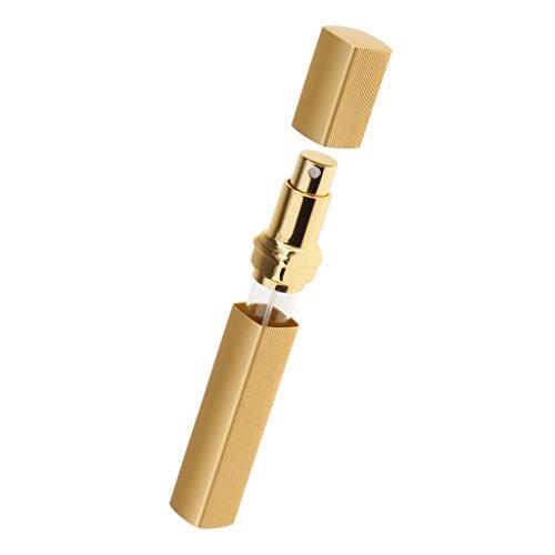 MagiDeal 15ml Flacon Pompe de Parfum Rechargeable Vide Portable Vaporisateur Bouteille de Pulvérisation pour Voyage Sortis - Or