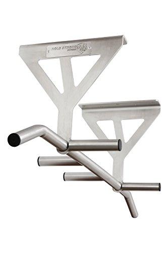 HOLD STRONG Fitness - Klimmzugstange aus Edelstahl mit 6 Griffweiten zur Deckenmontage / Profiqualität und Studiozulassung nach EN 957