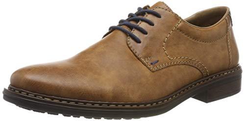 Rieker 17619-24, Zapatos Cordones Derby Hombre, Marrón