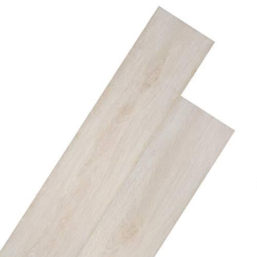 vidaXL PVC Laminat Dielen 5,02m² 2mm Selbstklebend Eiche Weiß Vinyl Bodenbelag