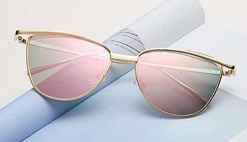 WSKPE Sonnenbrille Cat Eye Rote Sonnenbrille Damen Schattierungen Getönte Farbe Objektiv Damenbrillen-Etui Gelbe Sonnenbrille Uv400 Rosa Linse