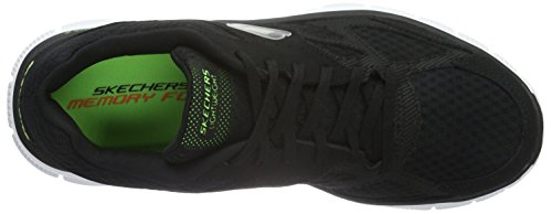 Skechers - Flex Advantage Master Plan, Sneakers da uomo Nero (BKW)