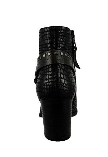 MJUS Femmes - Bottes Lette 188203-0201-0001 cuir Nero Noir Lavanda Nero