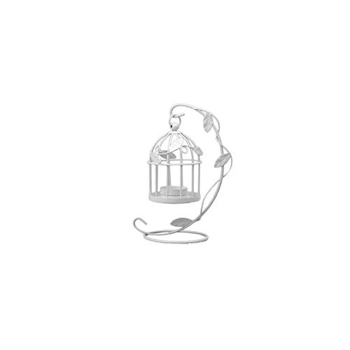 I titolari Arredamento Candela Vintage Candelabro uccelli Gabbie candelabri decorativi per la decorazione domestica Nero