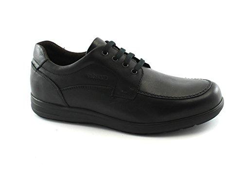 Grunland Race Noir Lacets en Cuir Chaussures Homme Confort SC1336 Nero