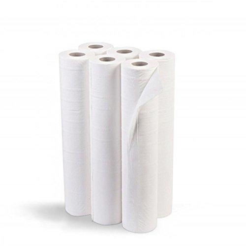 Oblite, Rollo de papel para camillas, Blanco Satinado, Caja con 6 rollos...