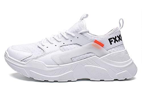 tqgold Scarpe da Ginnastica Uomo Donna Sportive Sneakers Fitness Scarpe da  Running(Bianco,Taglia 5acc9b4ed1c